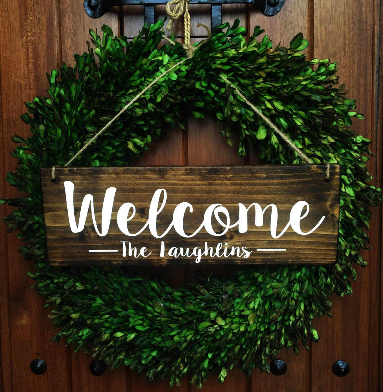 Welcome Sign Door Personalized Family
