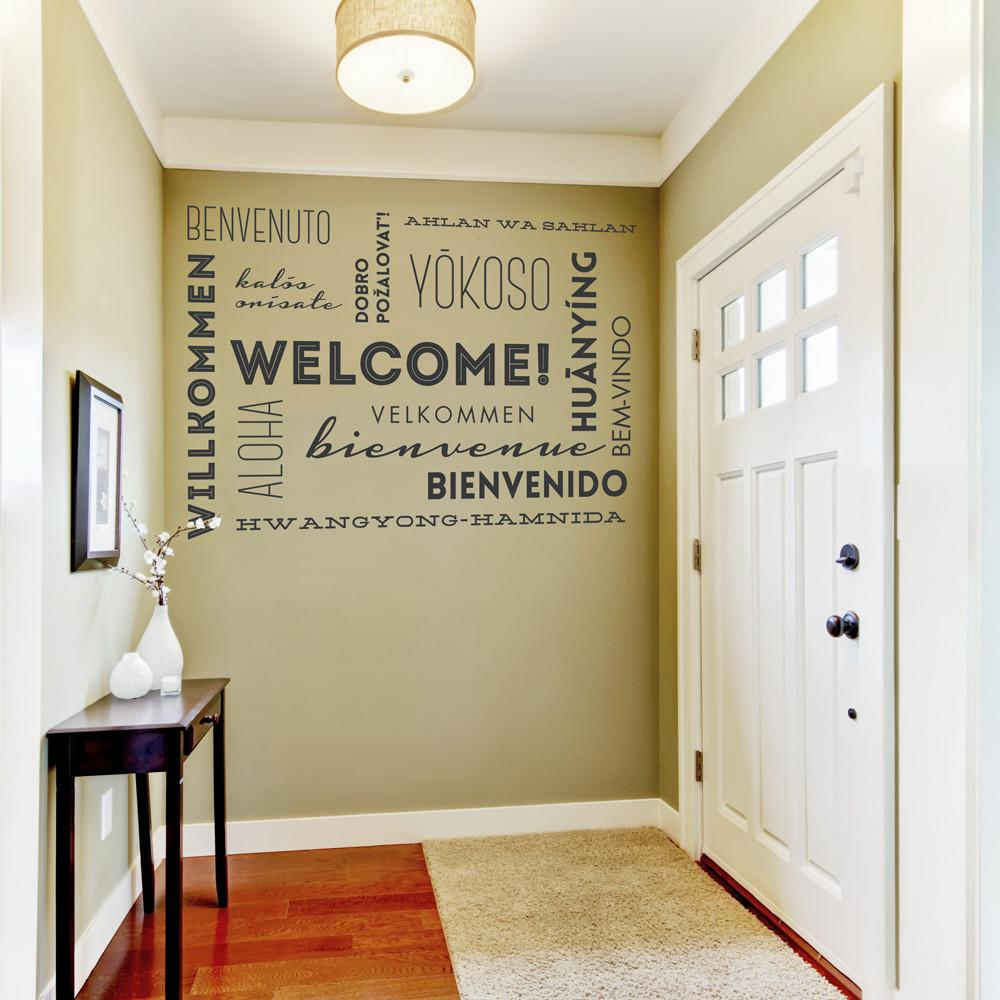 Welcome Wall Words Quote Decal