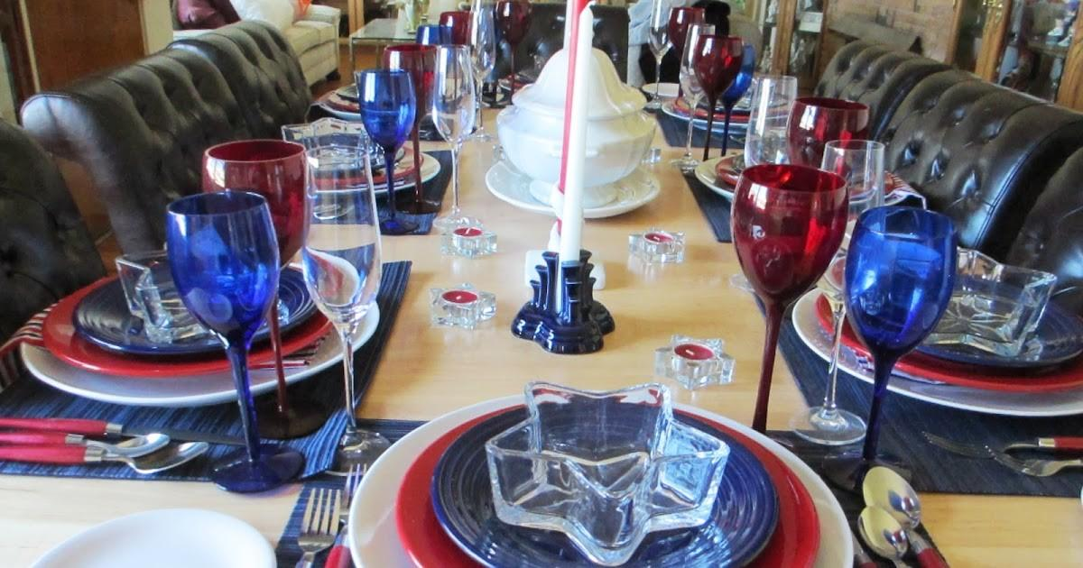 Welcomed Guest Fourth July Tablescape
