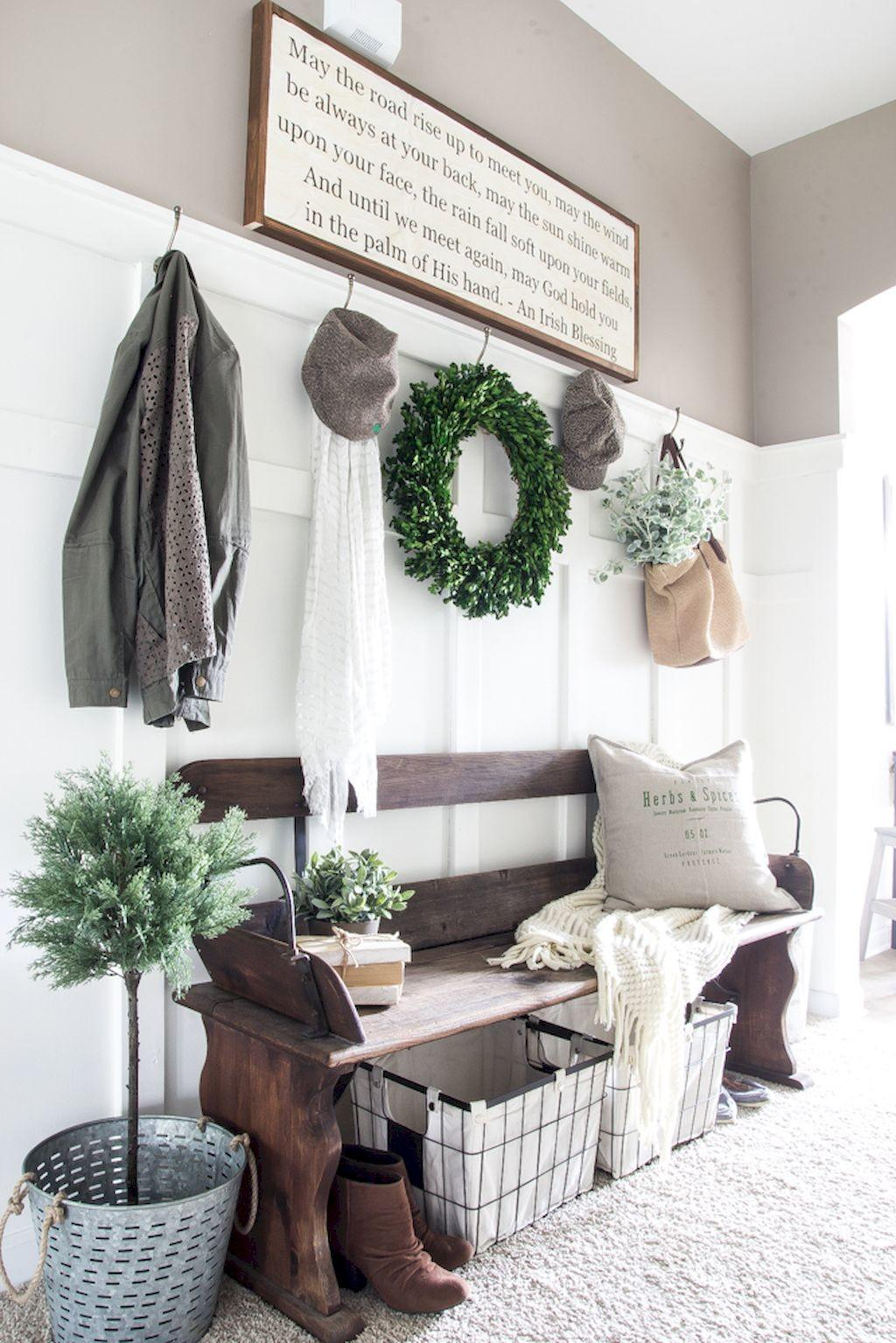 Welcoming Rustic Entryway Decorating Ideas Decoremodel
