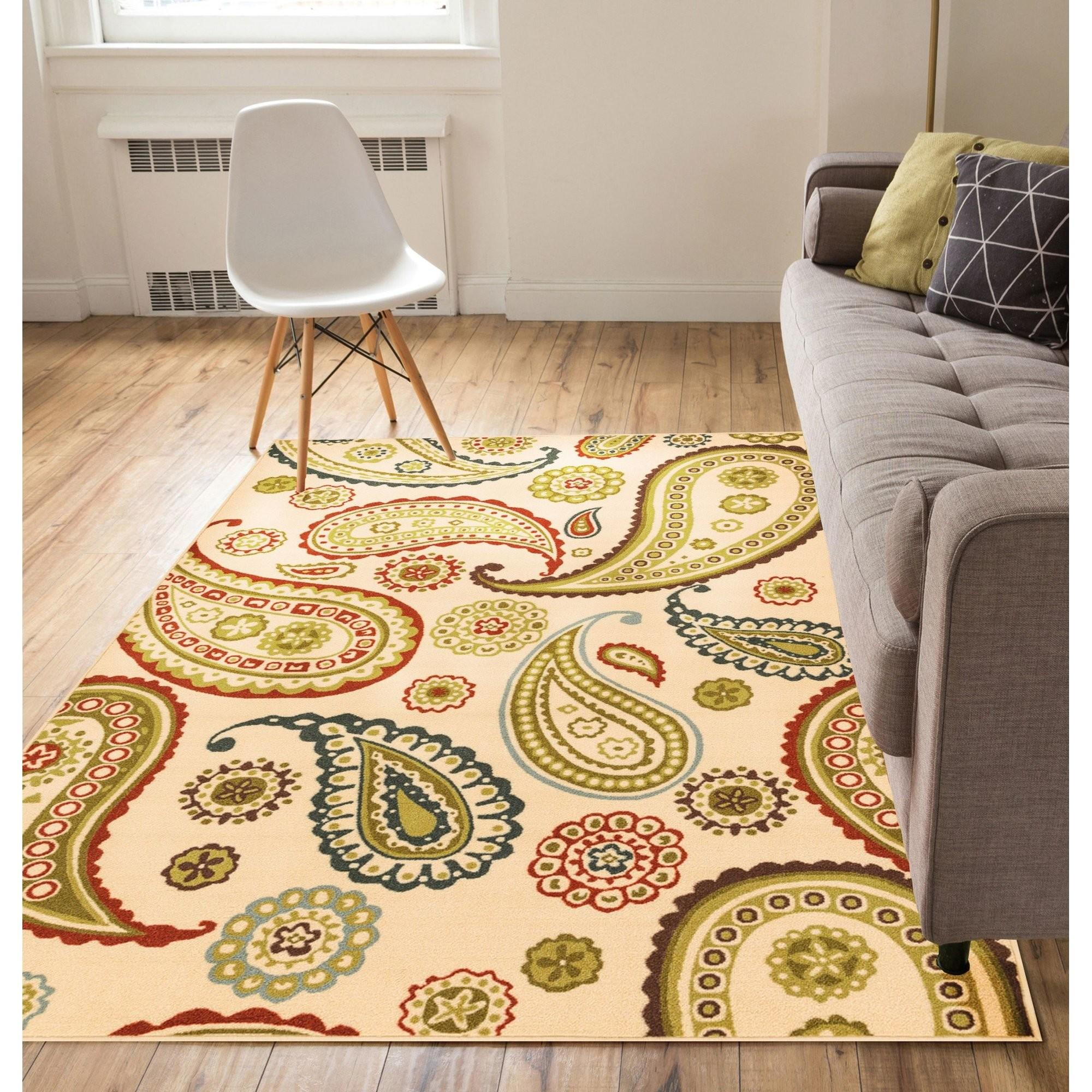 Well Woven Kings Court Flora Paisley Ivory Indoor Outdoor