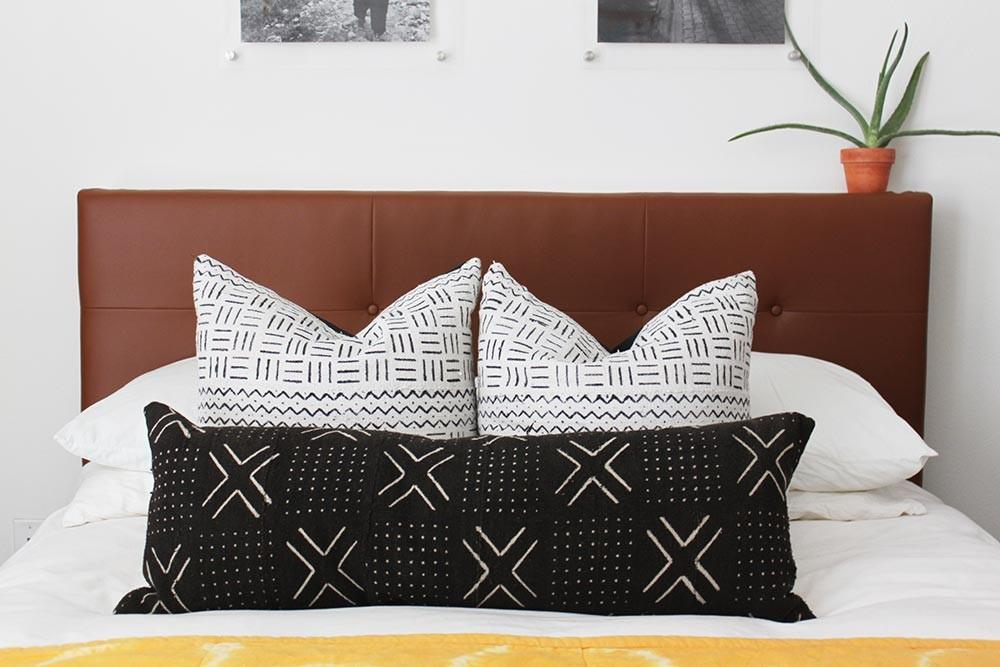 West Elm Inspired Diy Leather Tufted Headboard Then