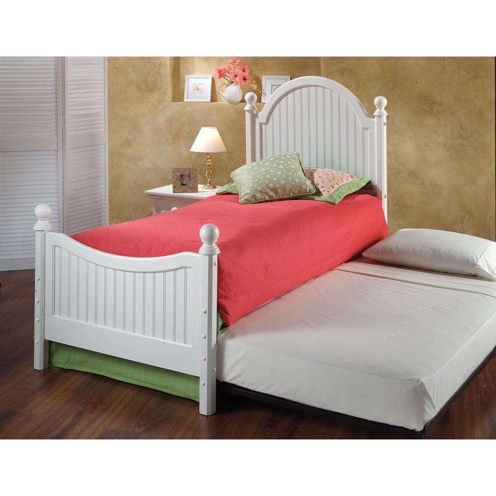 Westfield Wood Trundle Bed White Humble Abode