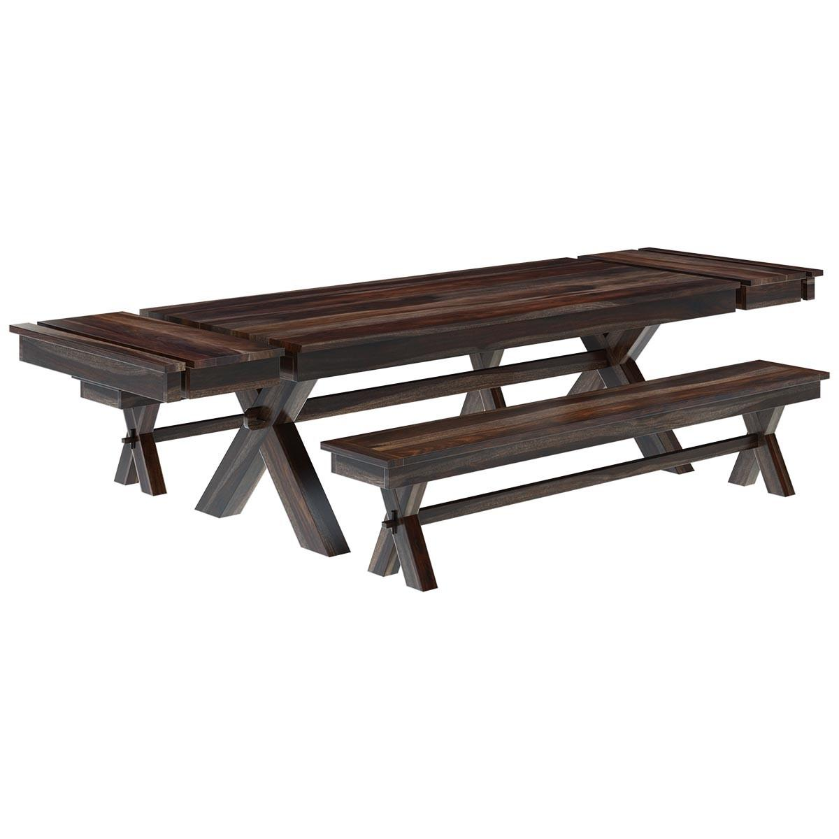 Westside Indoor Picnic Style Dining Table Bench Set