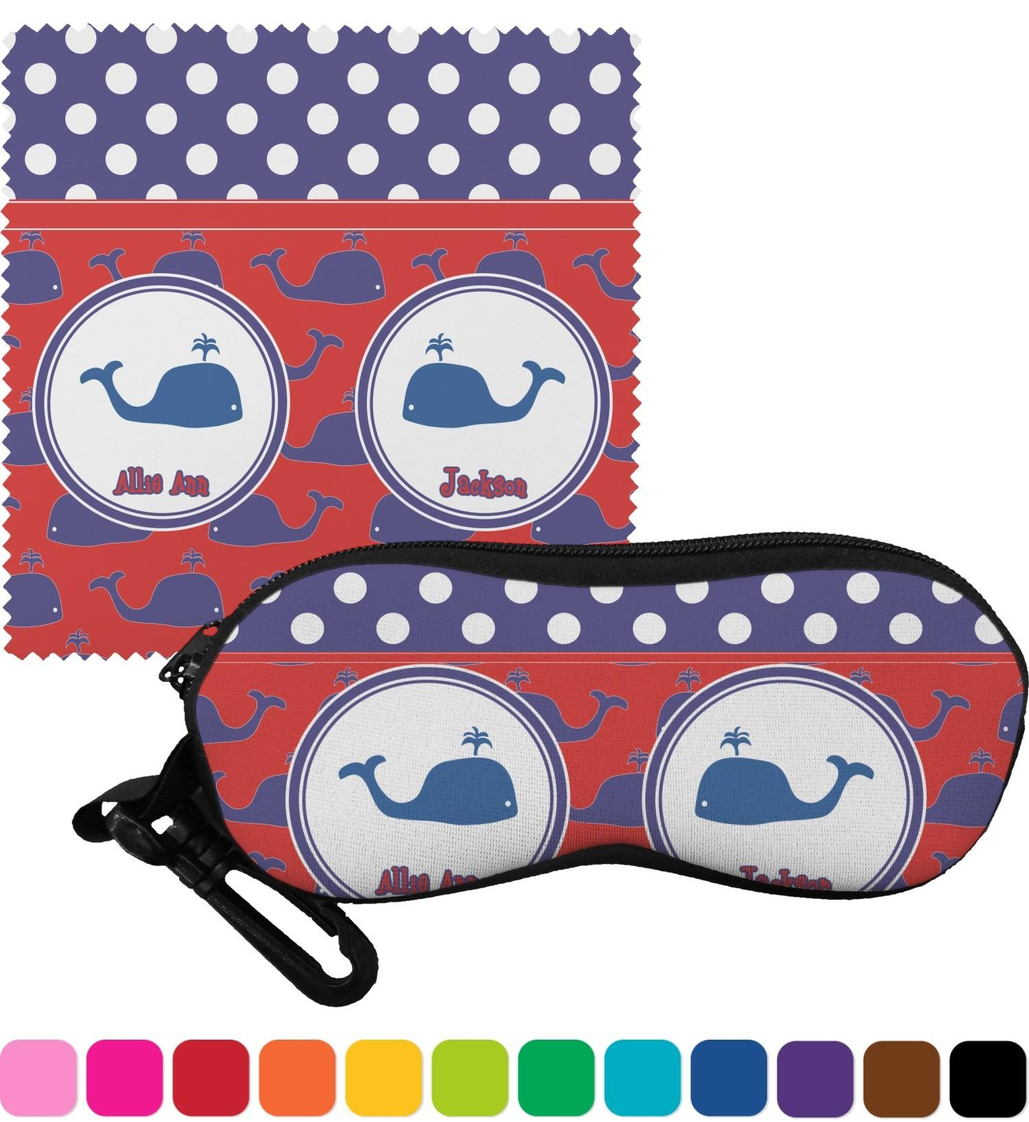 Whale Eyeglass Case Cloth Personalized Customize