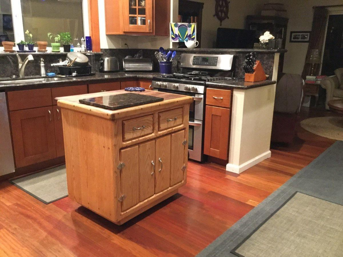 Wheels Kitchen Island Granite