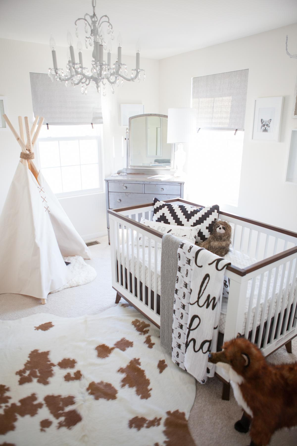Whimsical Black White Nursery Project
