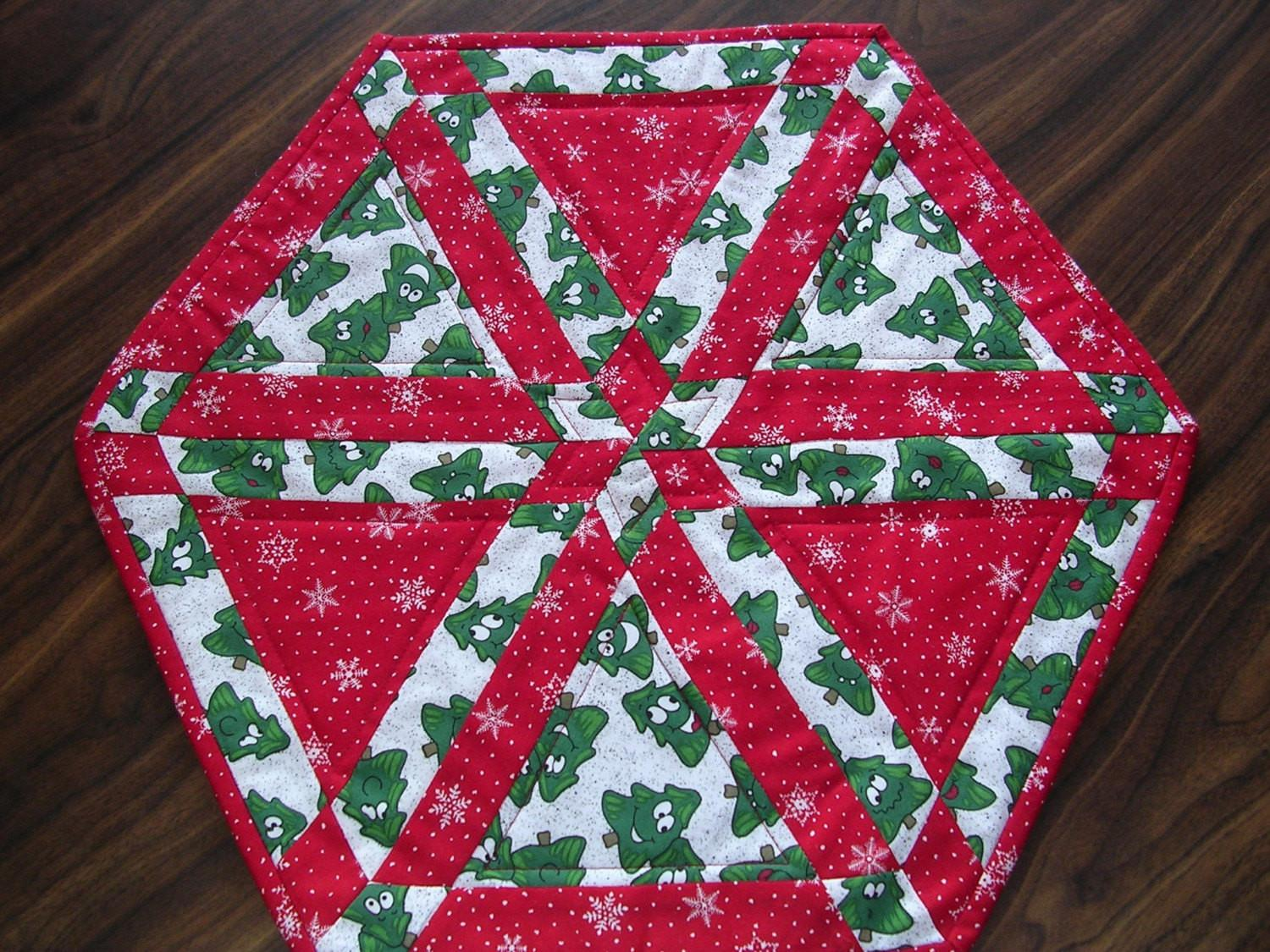Whimsical Christmas Tree Table Topper Quiltedkitchen