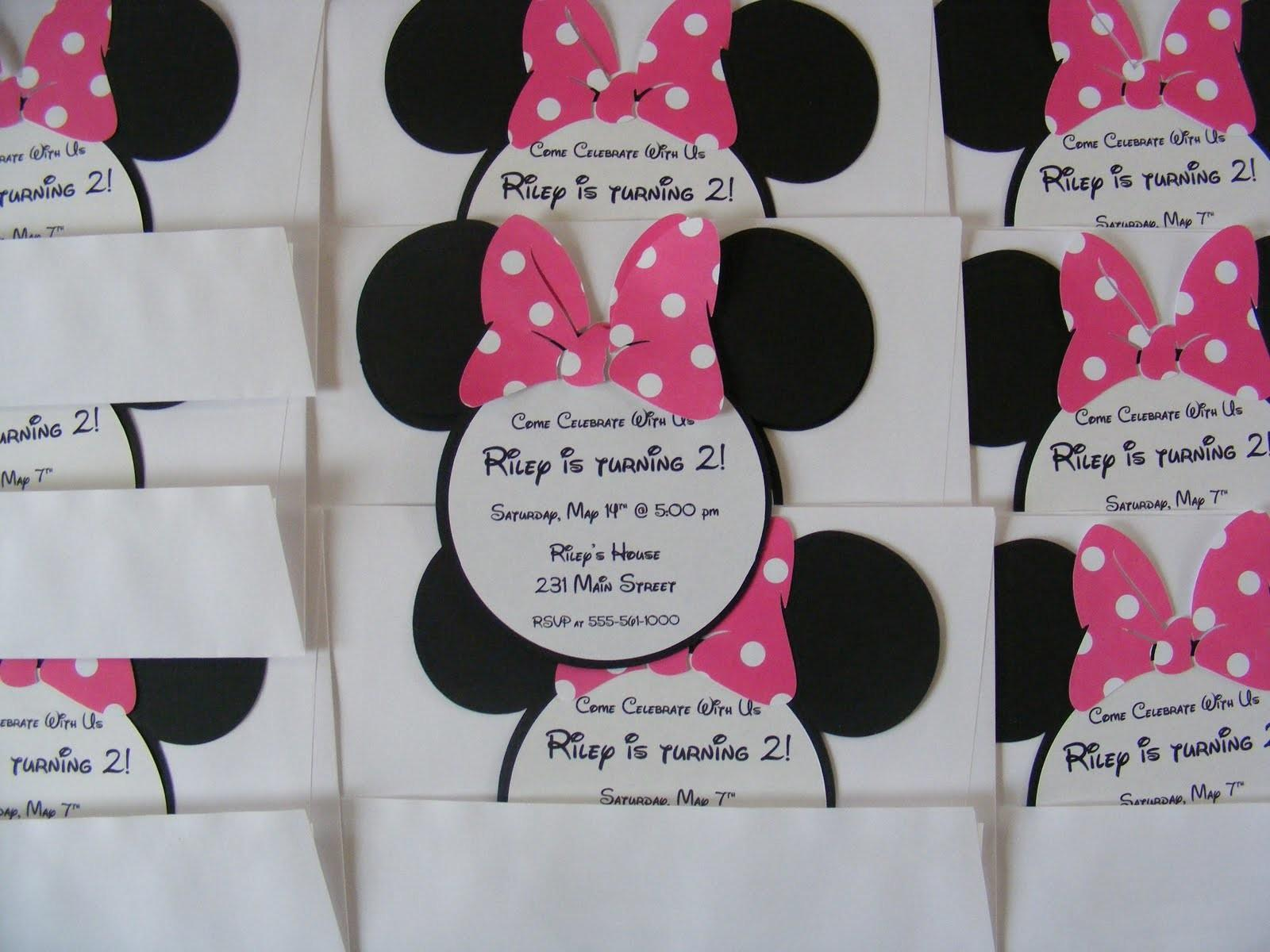Whimsical Creations Ann Minnie Mouse Birthday Party