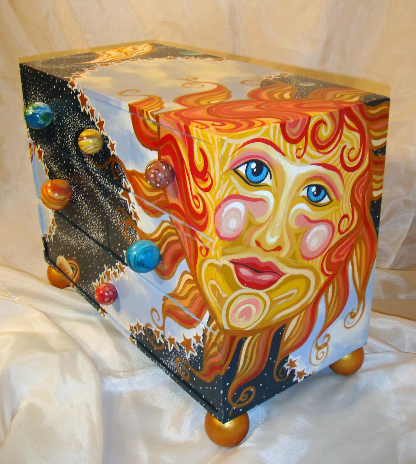 Whimsical Hand Painted Furniture One Kind