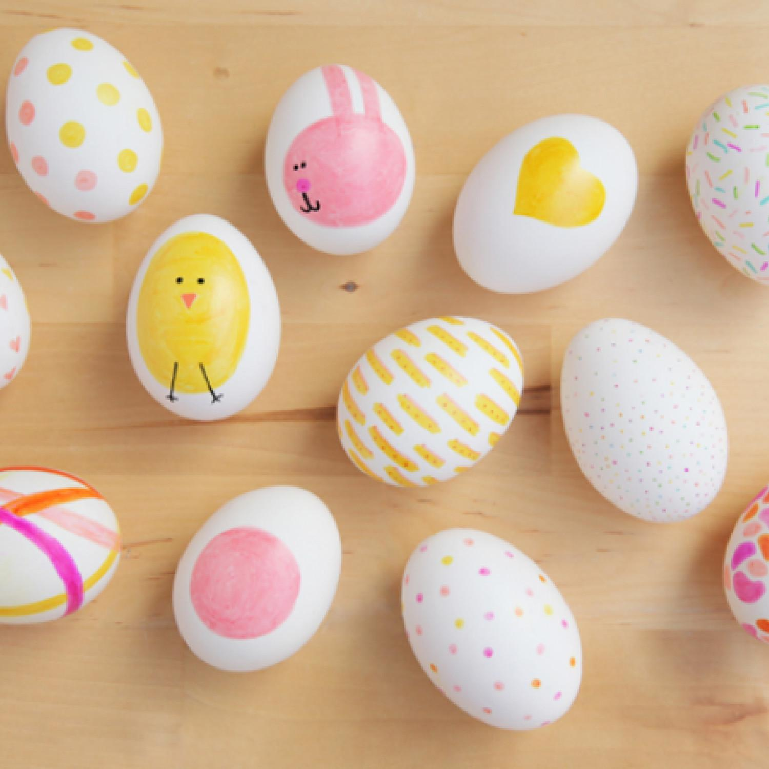 Whimsical Ways Decorate Easter Eggs Sharpie