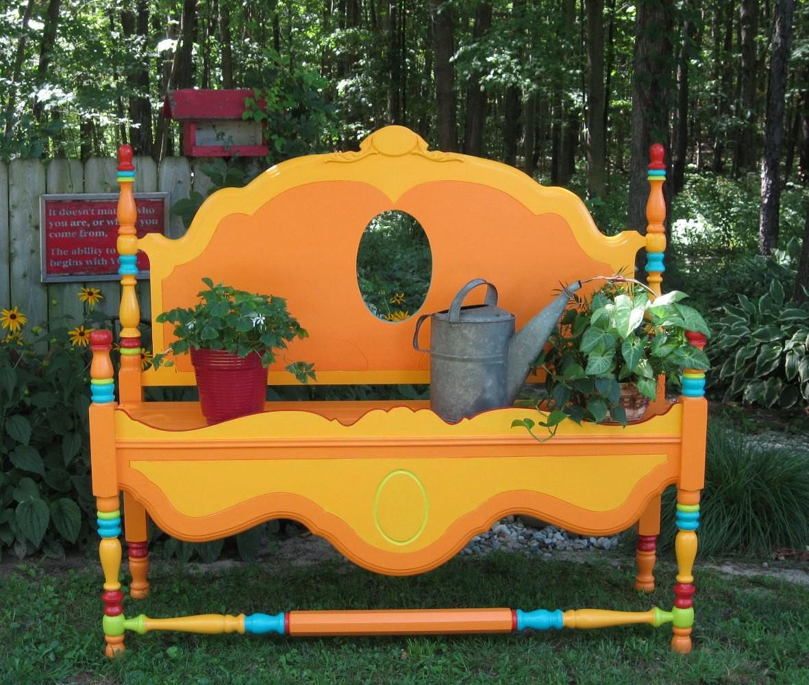 Whimsical Ways Old Furniture Your Flower Bed