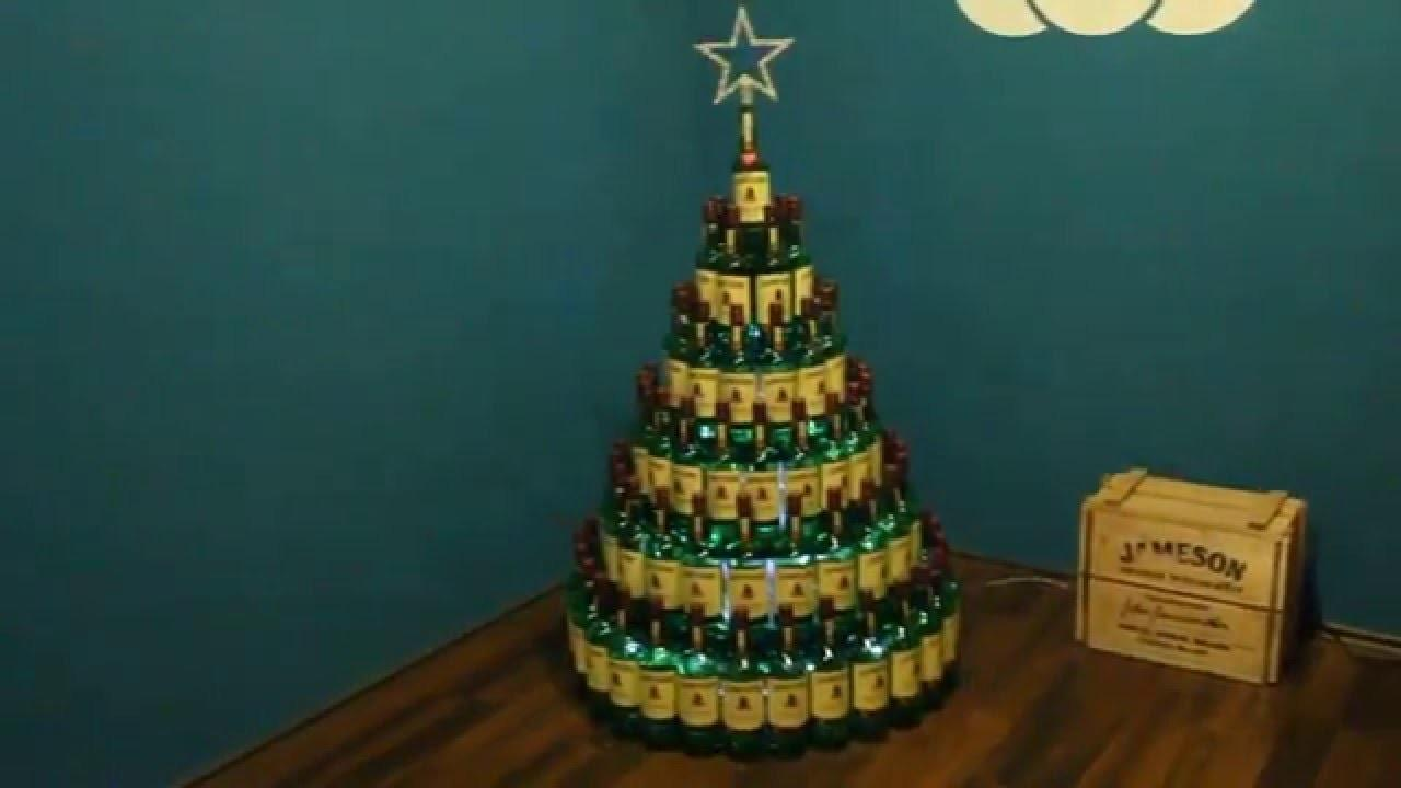 Whiskey Bottle Christmas Tree Diy Made Forty