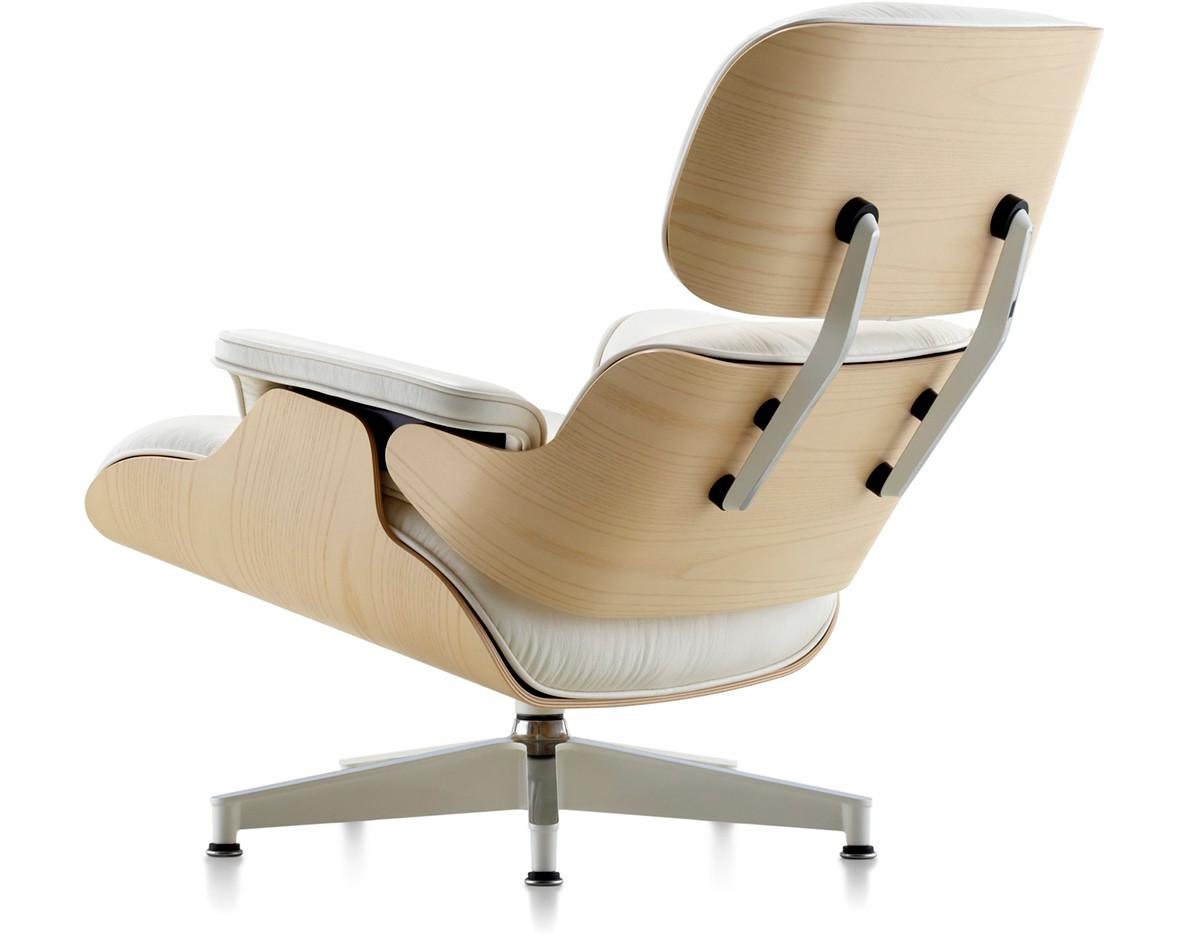 White Ash Eames Lounge Chair Without Ottoman Hivemodern