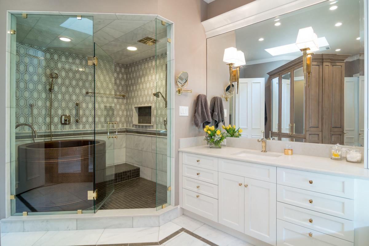 White Bath Luxury Kitchen