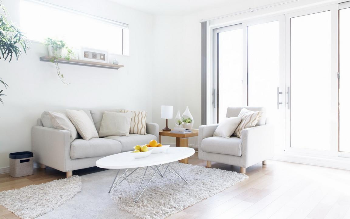 White Calm Living Room Interior Design Ideas Decobizz