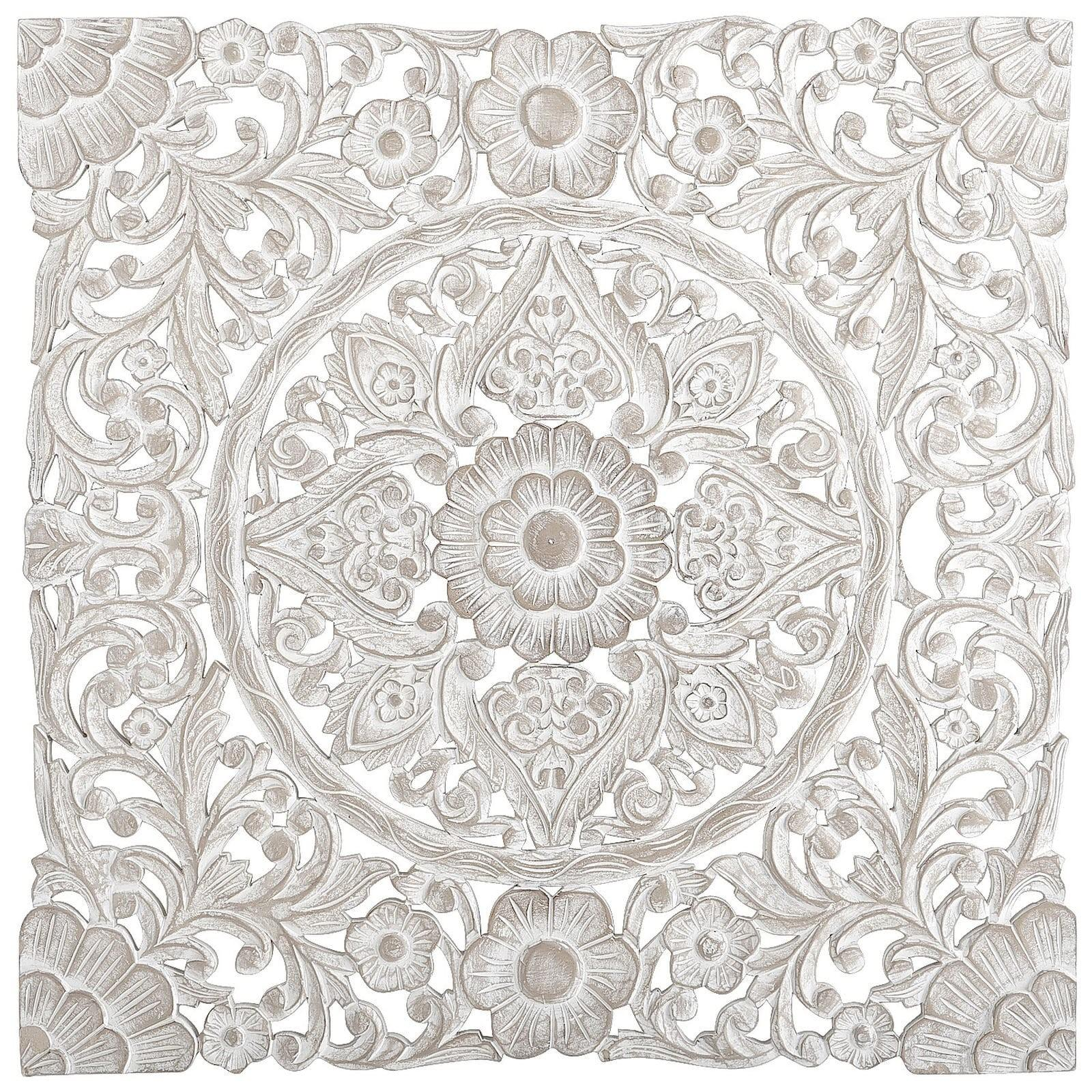 White Carved Wall Decor Pier Imports