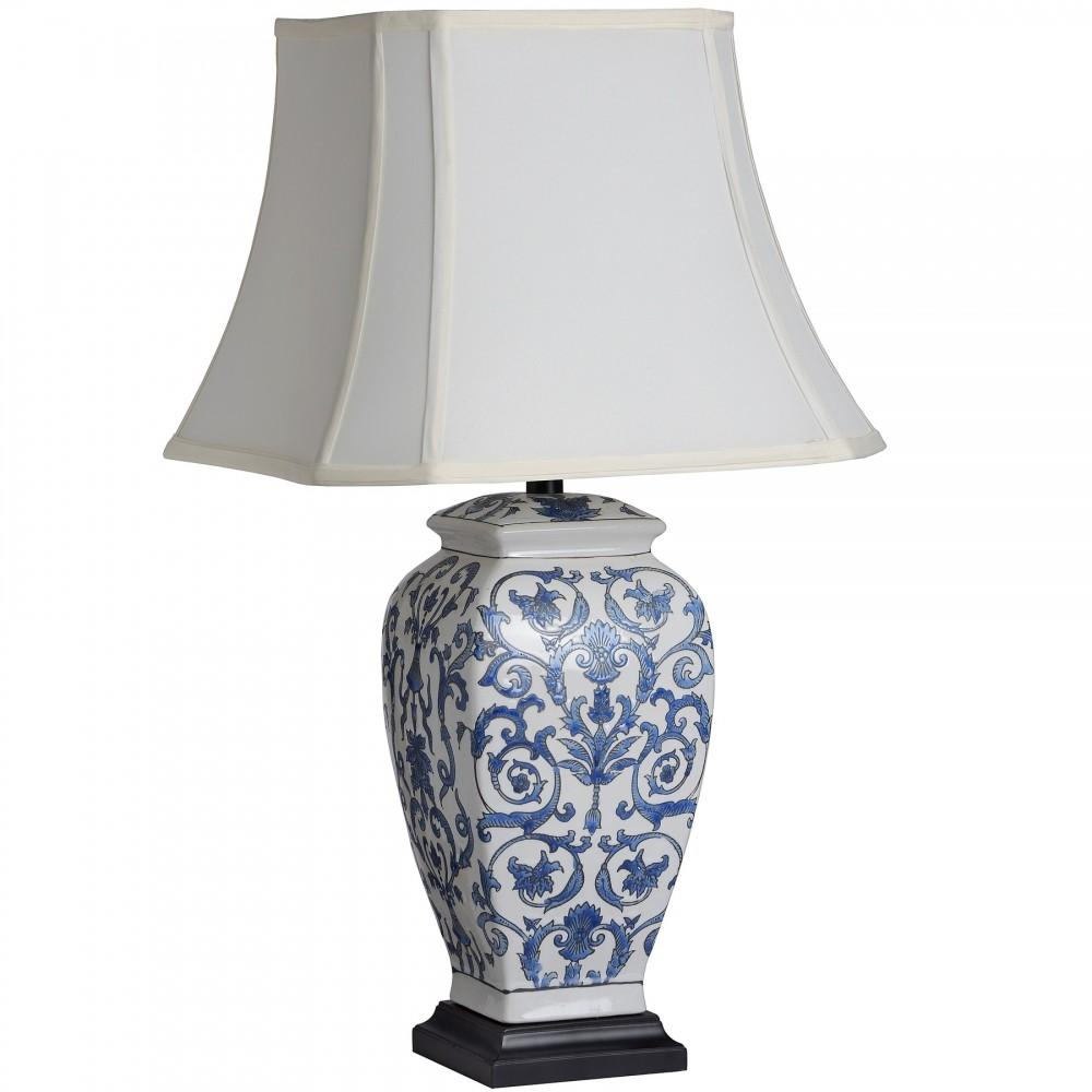 White Ceramic Table Lamp Cashorika Decoration