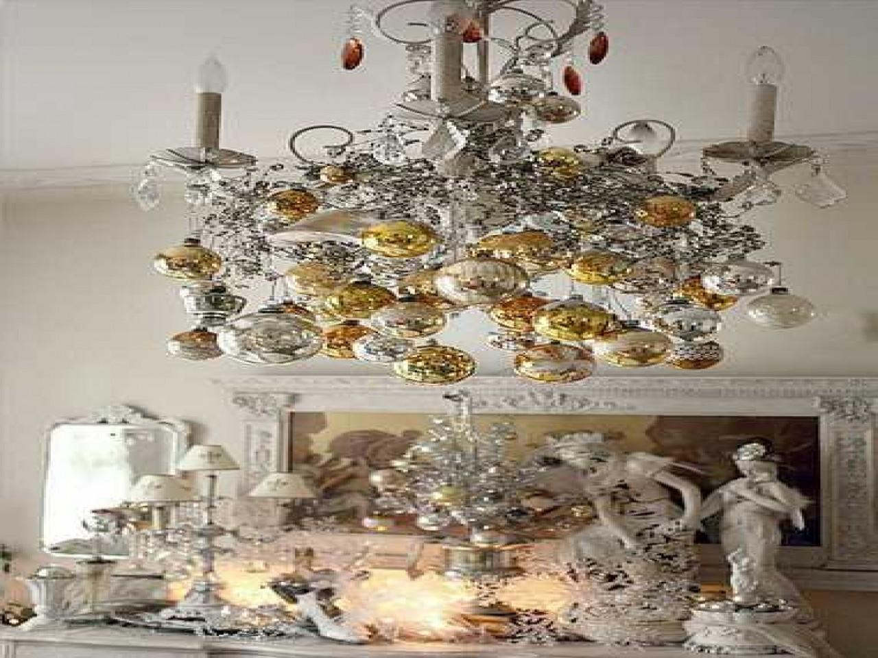 White Christmas Ideas Decorating Chandelier
