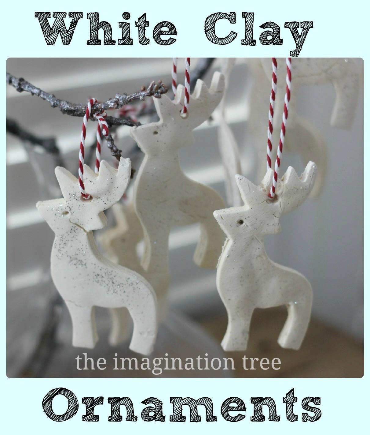 White Clay Ornaments Tutorial Imagination Tree