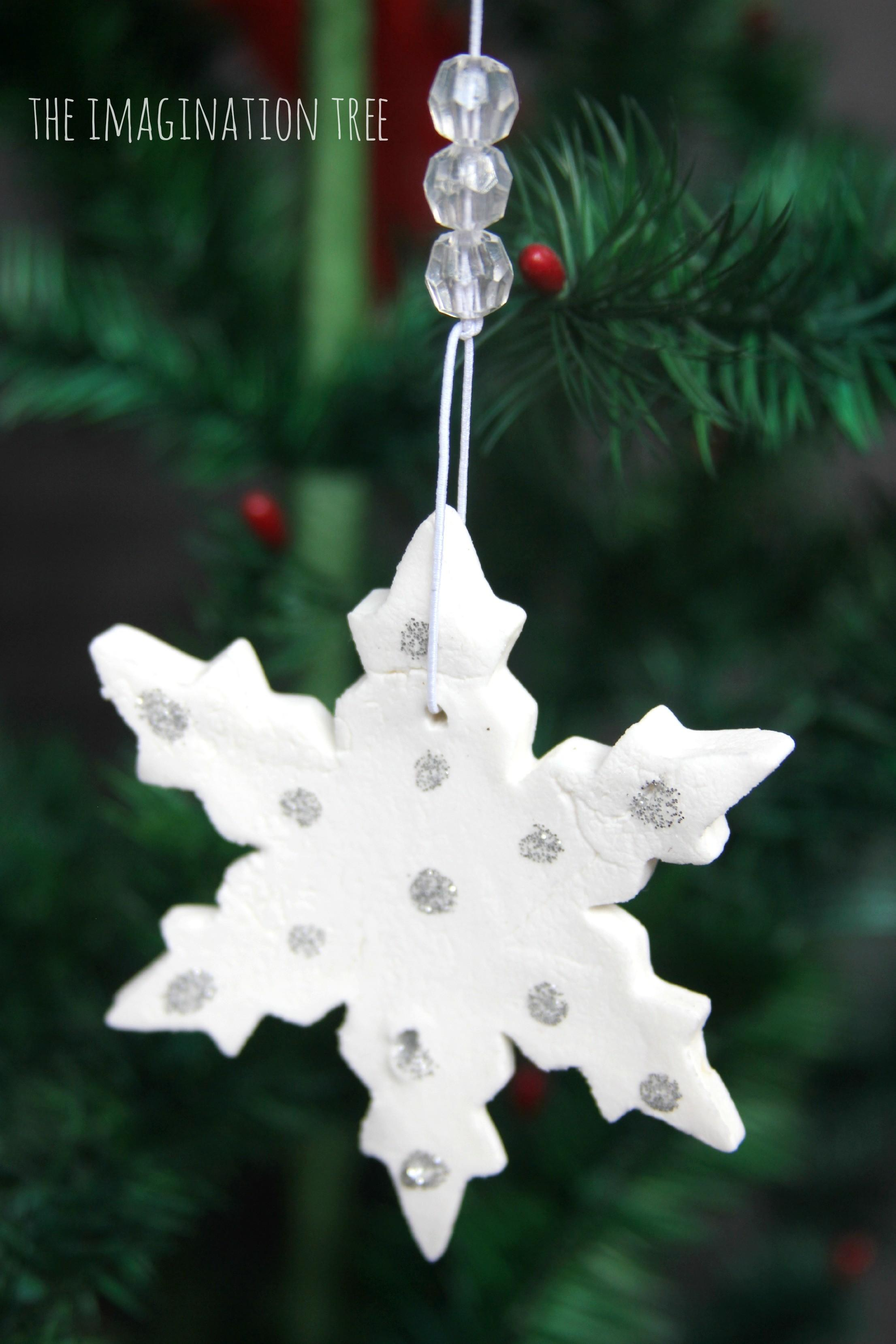 White Clay Snowflake Ornaments Imagination Tree