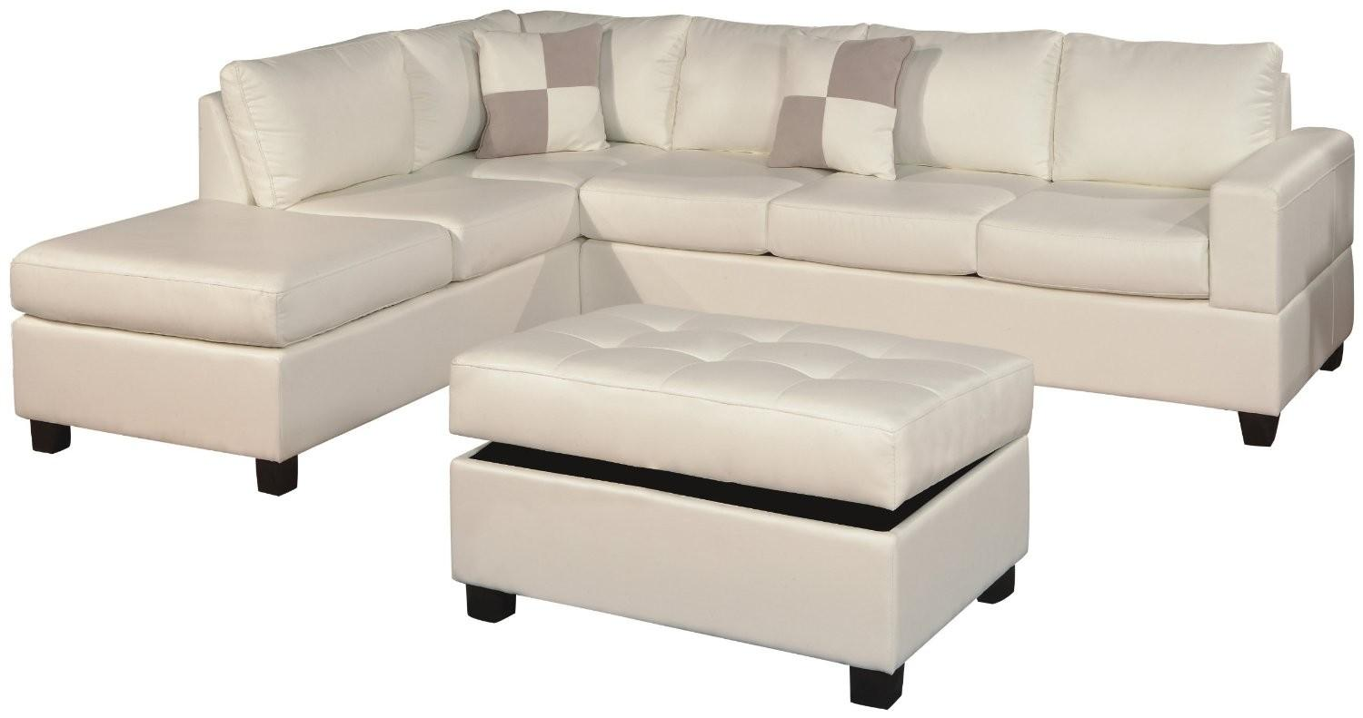 White Color Modern Tufted Leather Chaise Lounge Sofa Bed