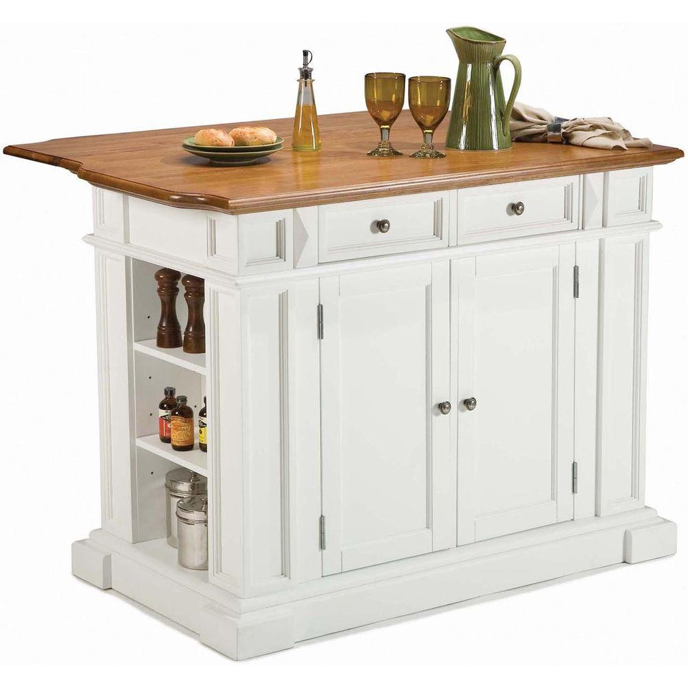 White Distressed Wooden Oak Block Counter Top New Storage