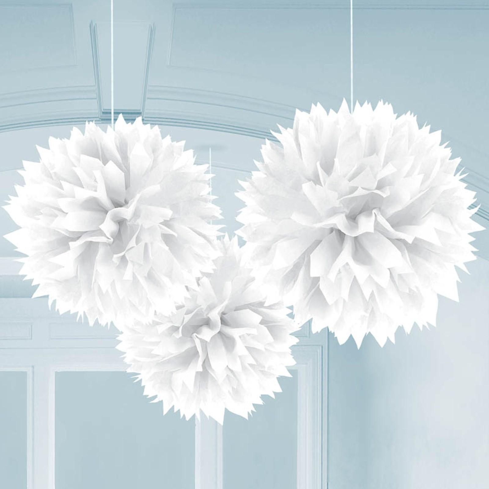 White Fluffy Decorations Birthdayexpress