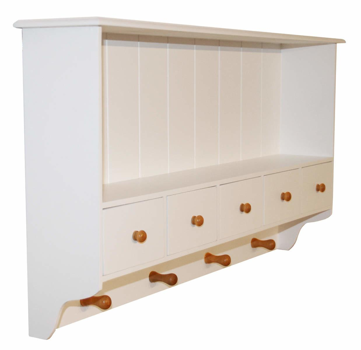 White French Country Kitchen Top Wall Shelf Display Cupboard