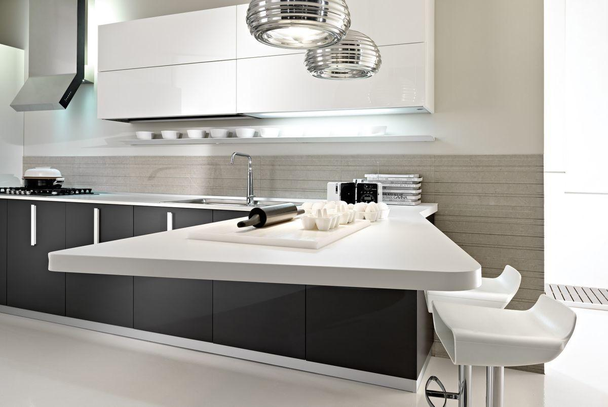 White Gray Contemporary Kitchen Decor Decosee