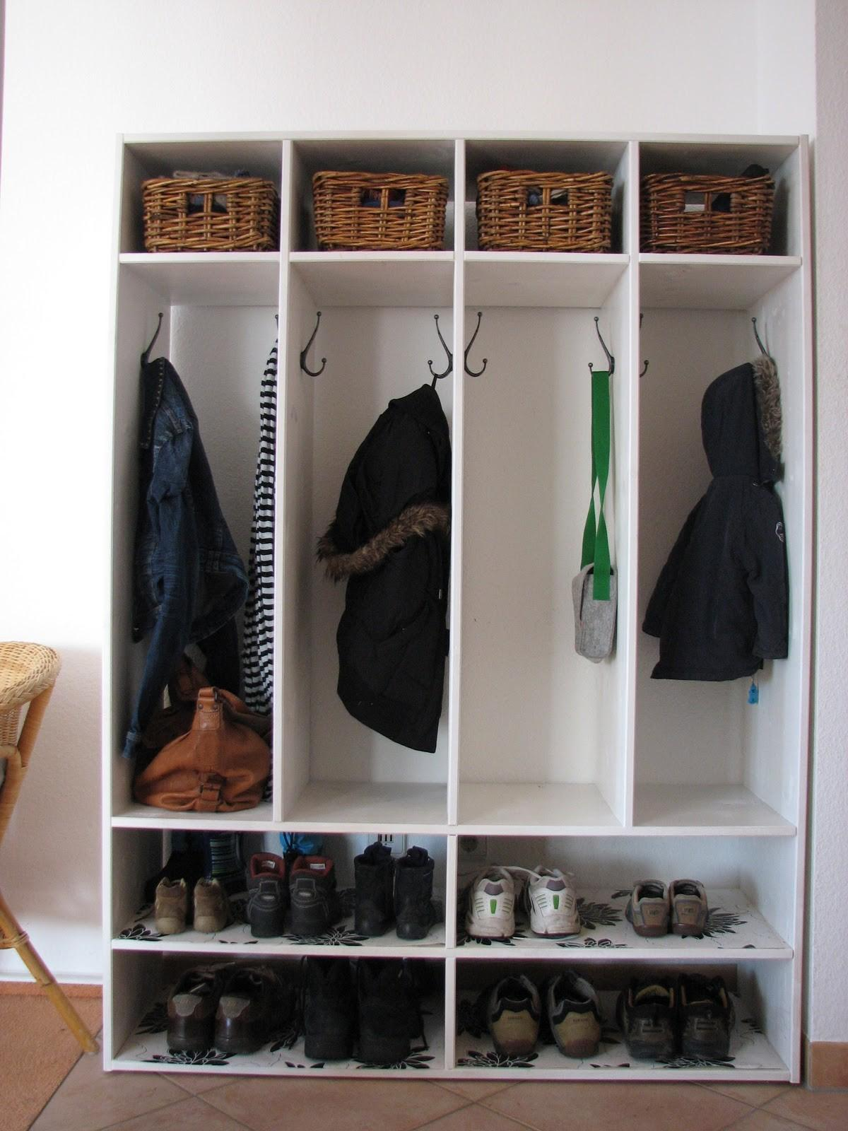 White Homemade Mudroom Shoe Rack Storage Hanging