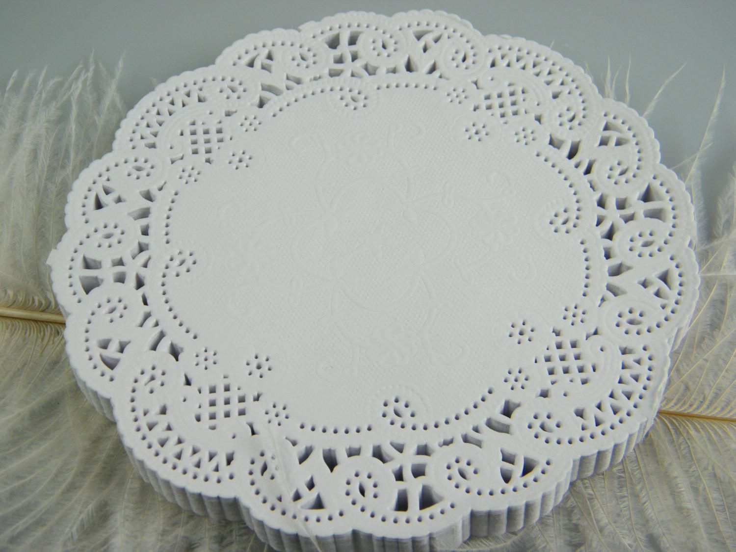 White Lace Doilies Paper Doily Craft