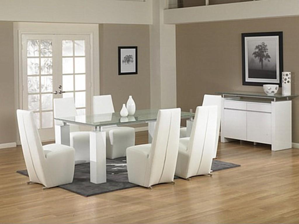 White Leather Dining Chairs New Sleek Glass