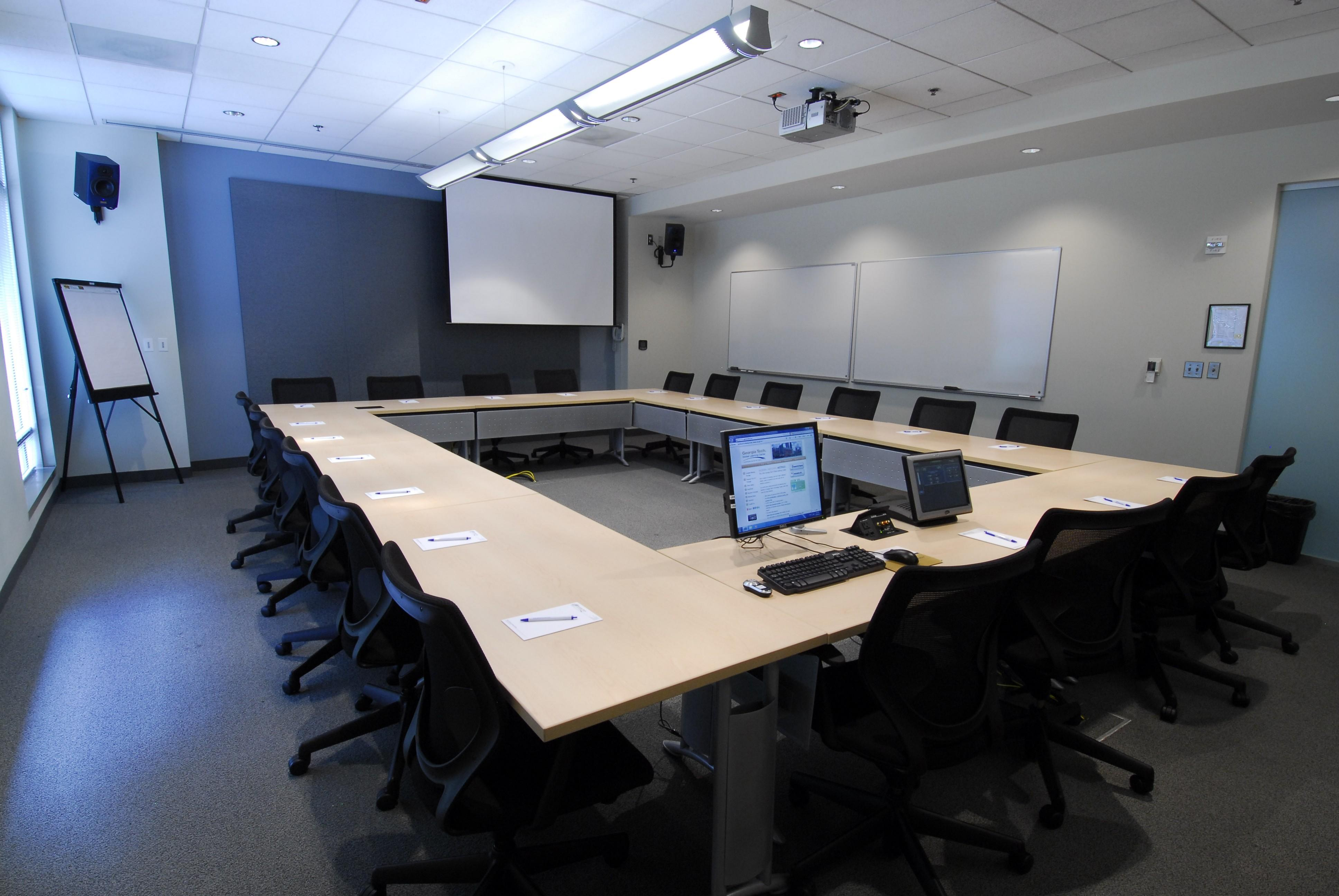 White Meeting Room Modern Wooden Top Conference