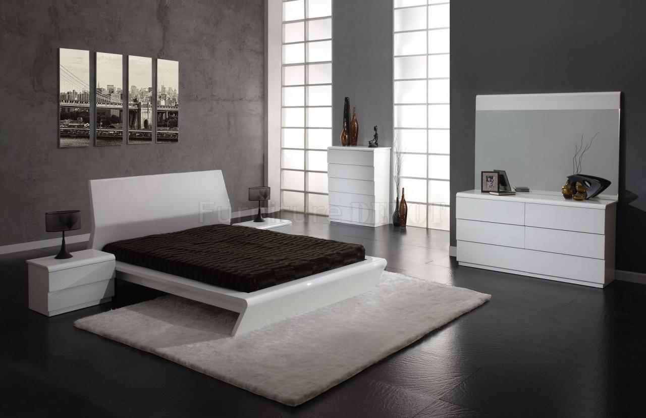 White Modern Bedroom Furniture Set Raya Decoratorist 23928