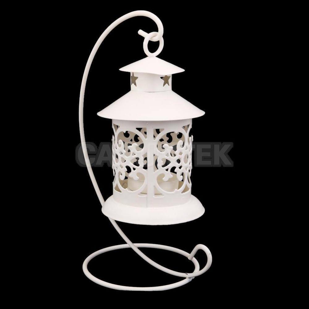 White Moroccan Candle Holder Tealight Candlestick Stand
