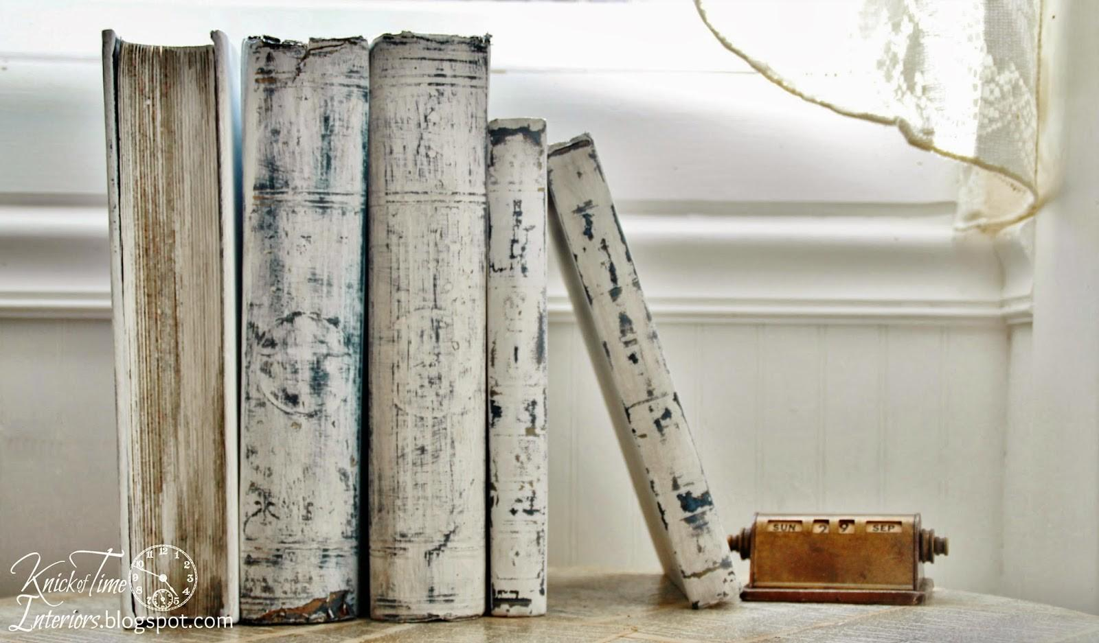White Painted Books Prettying Ugly Old Knick