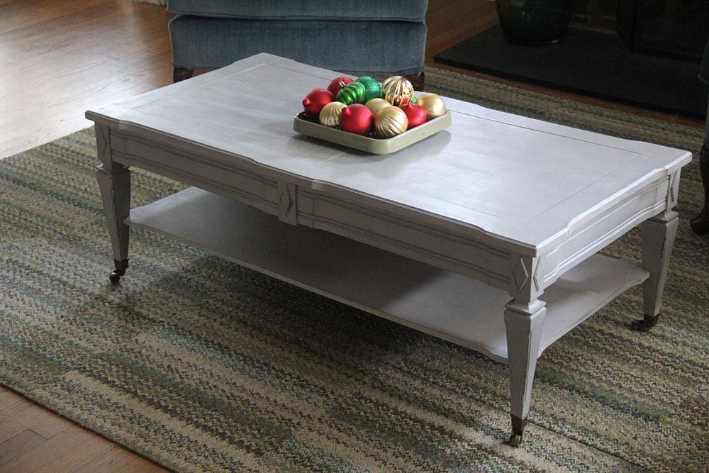 White Painted Coffee Tables Jessica Color Simple Yet