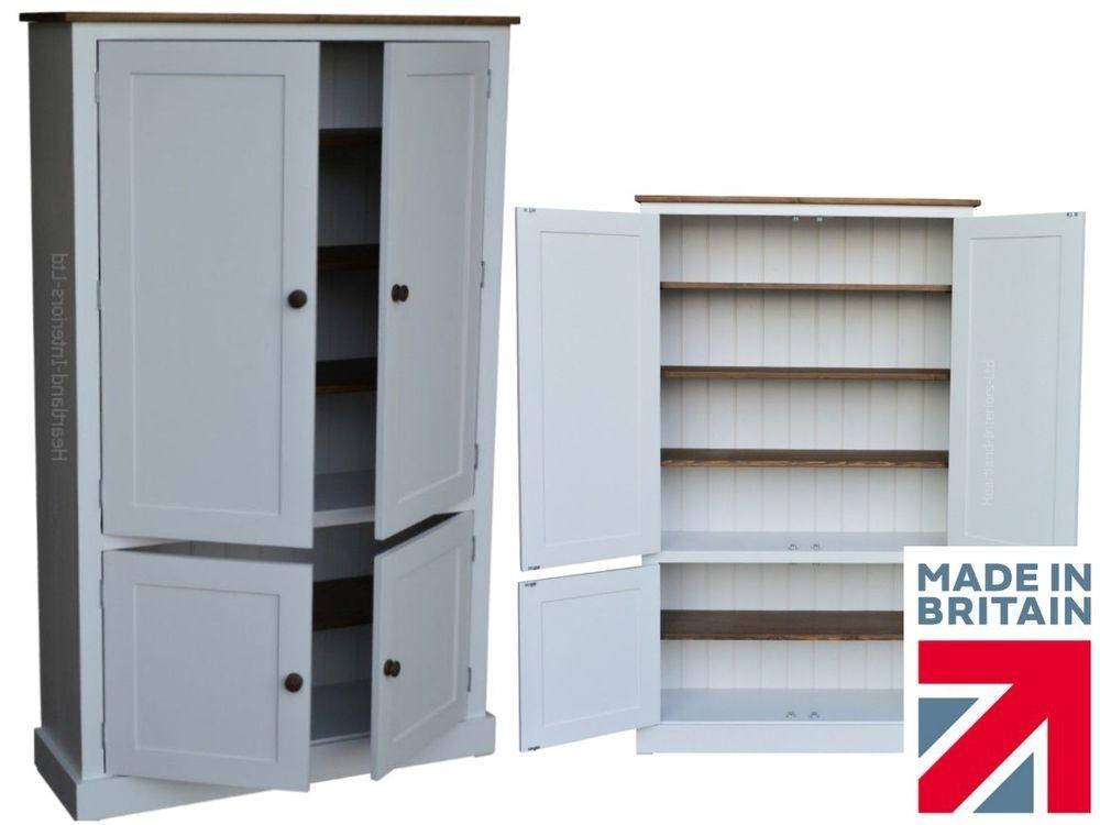 White Painted Wood Cupboard 172cm Tall Door Kitchen