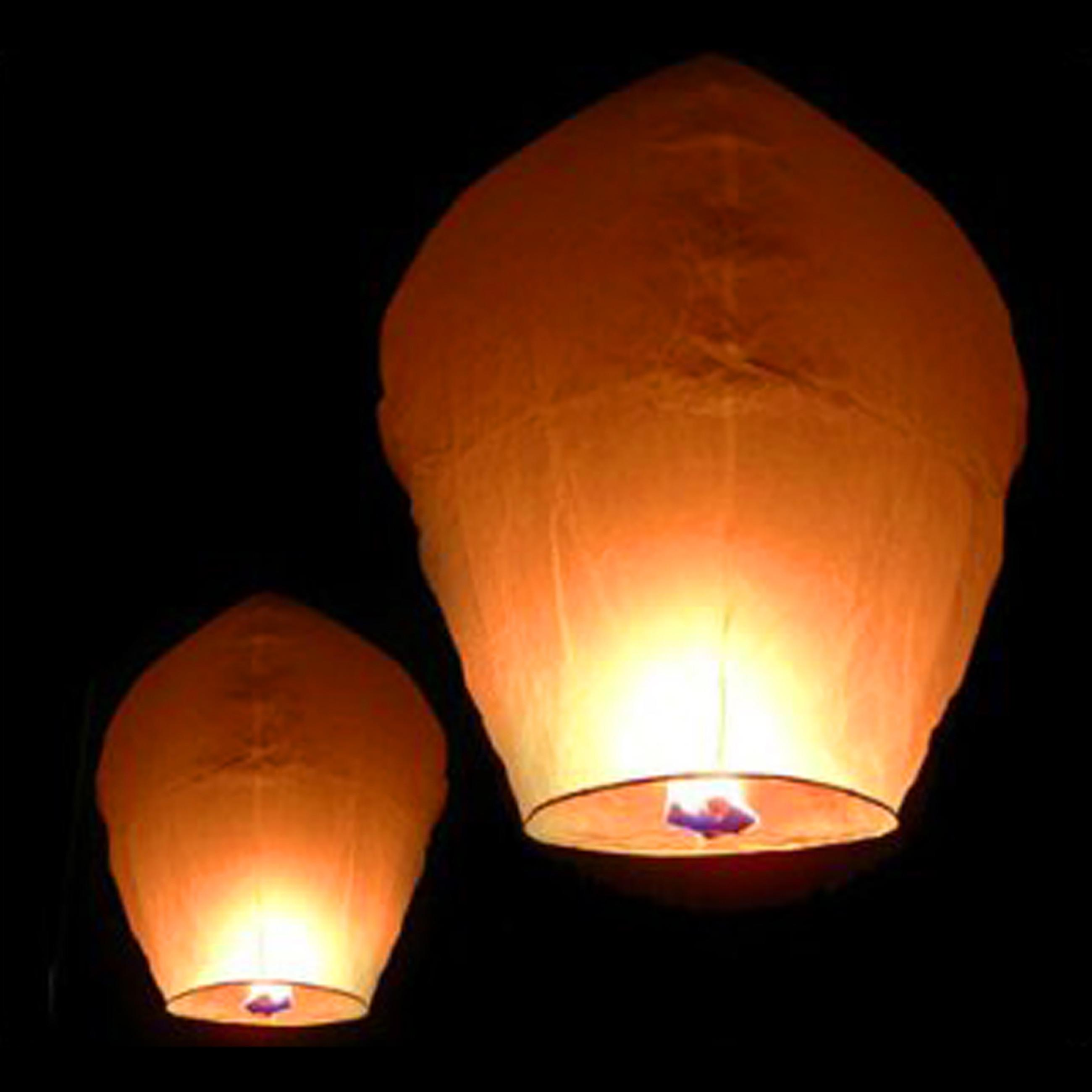 White Paper Chinese Lanterns Sky Fly Candle Lamp