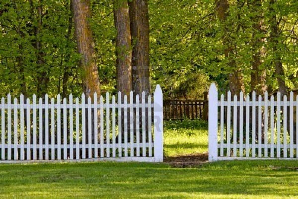 White Picket Fence Open Gate Park Royalty