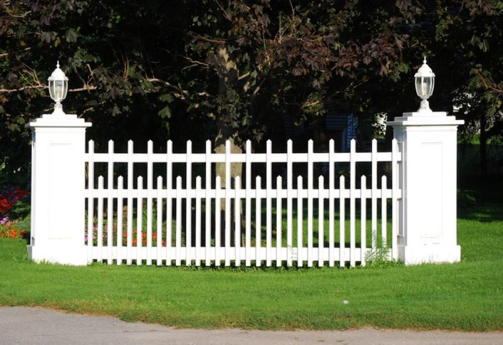 White Picket Fences Here Modern Fence