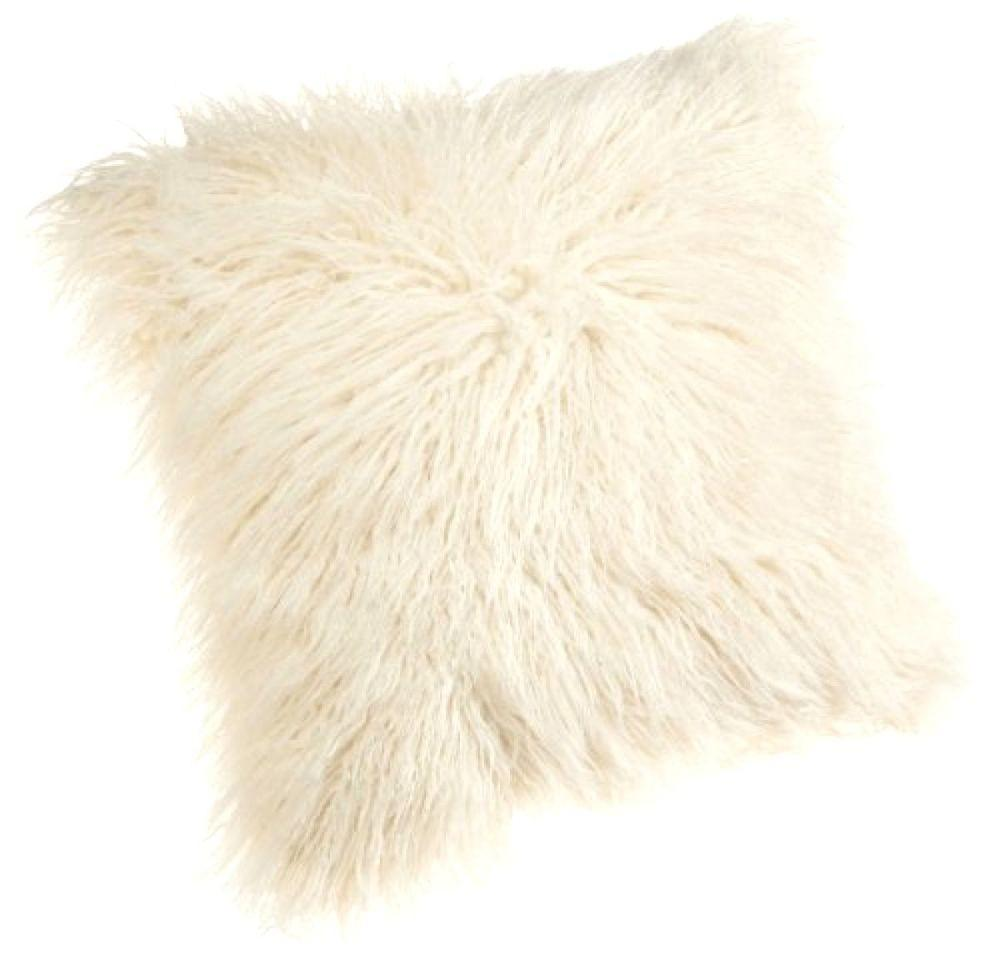 White Pillow Faux Fur Cushion Bedroom Indoor Decor Soft
