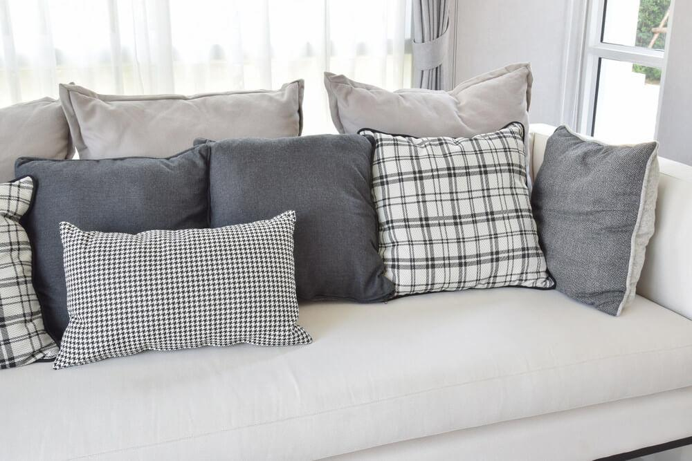 White Pillows Couch