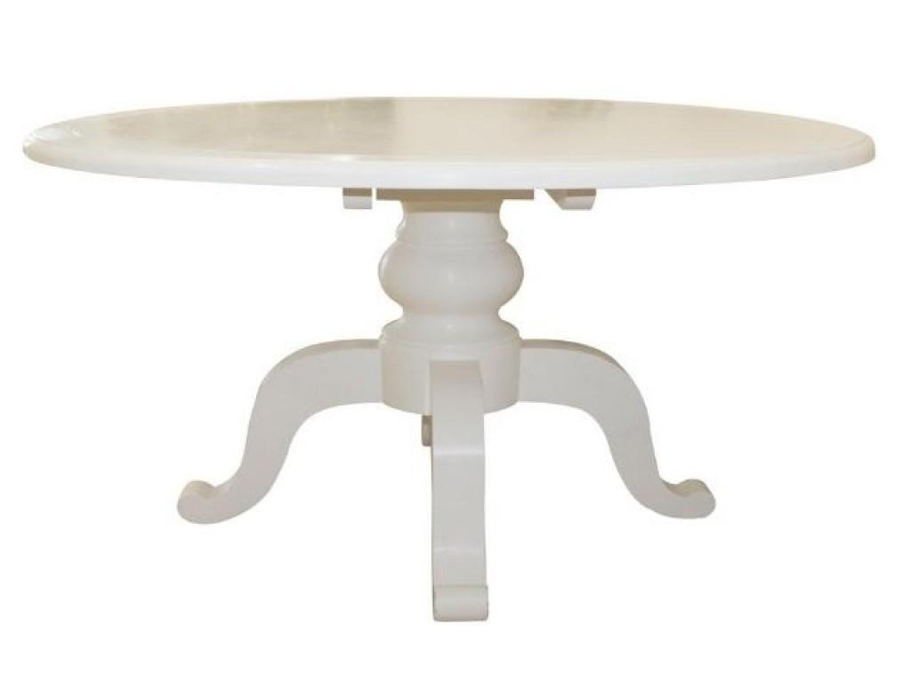 White Round Dining Table Design Inspiration