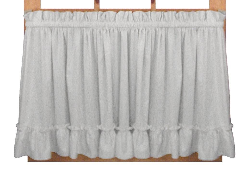 White Ruffle Bedroom Curtains Curtain Panel