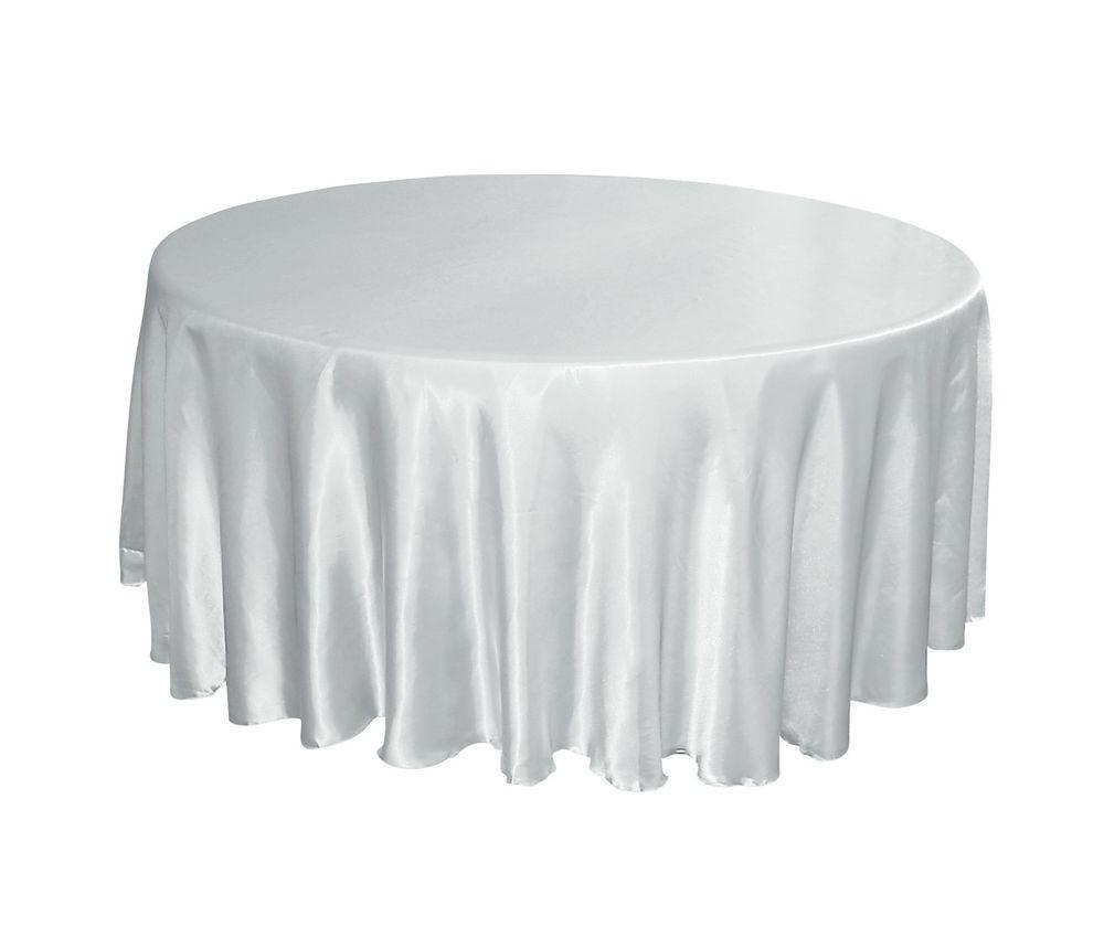 White Satin 120 Round Tablecloths Wedding Banquet