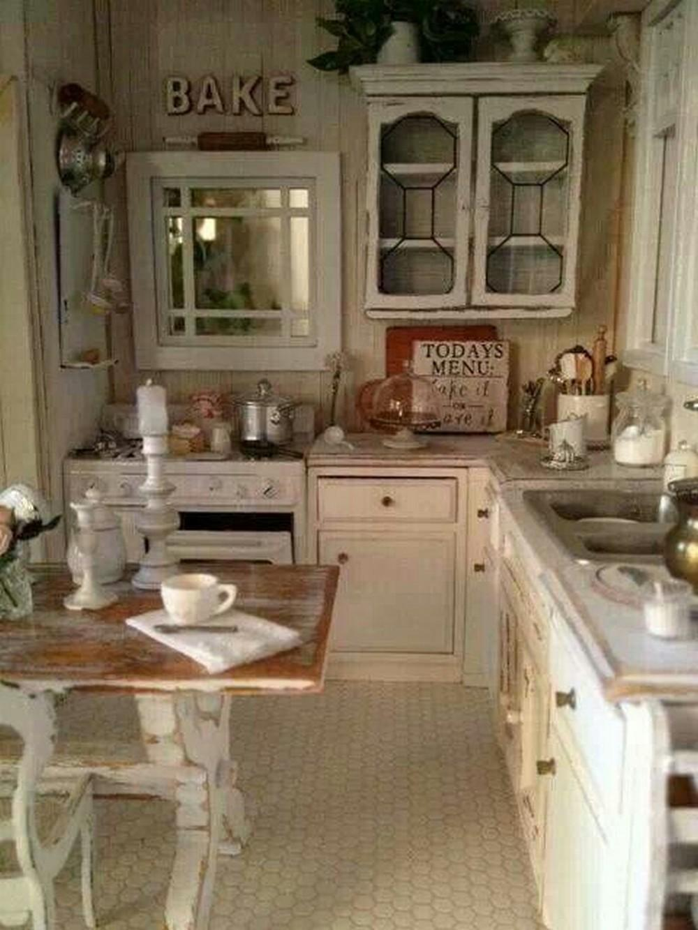White Shabby Chic Kitchen Homedecort