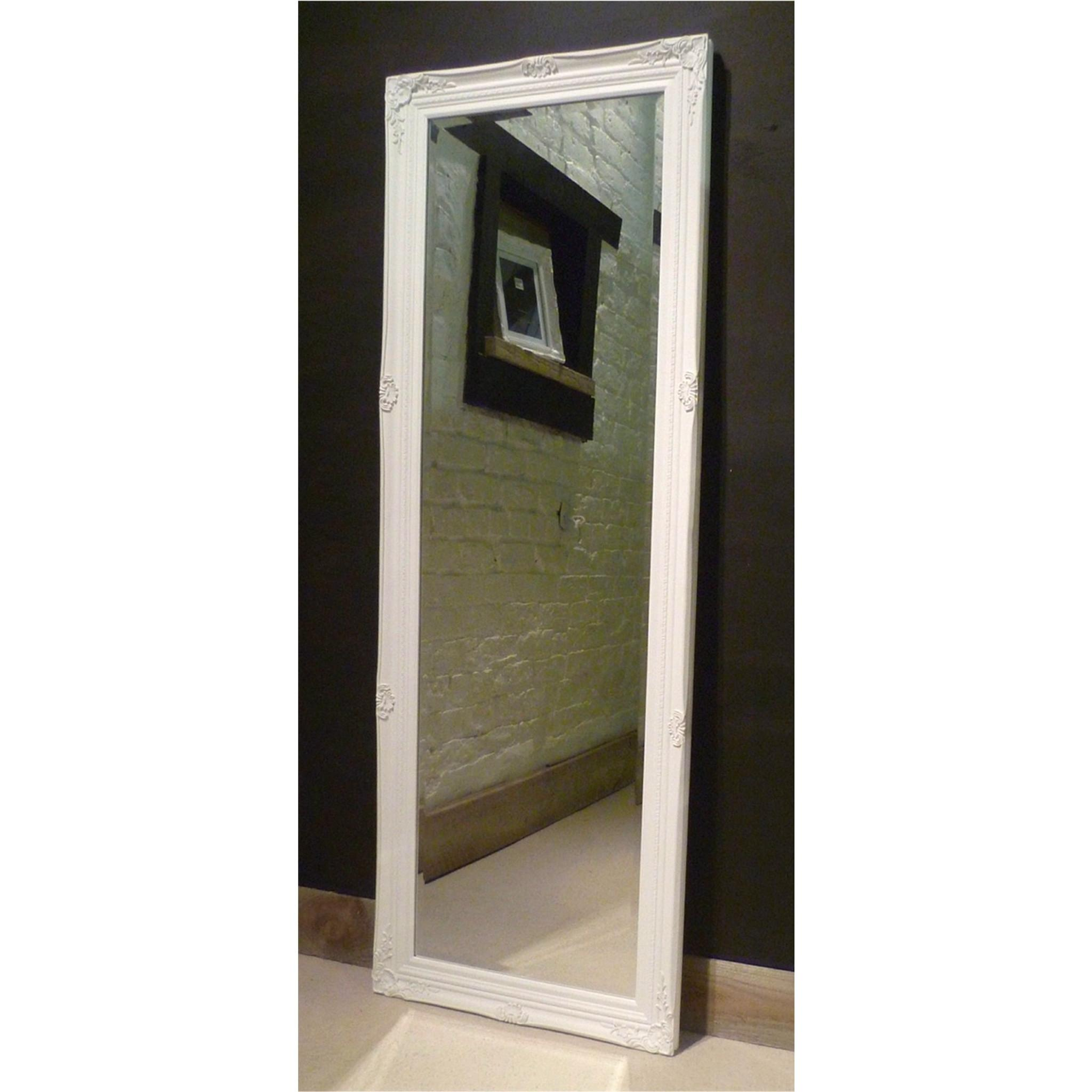 White Shabby Chic Rectangular Mirror Paris