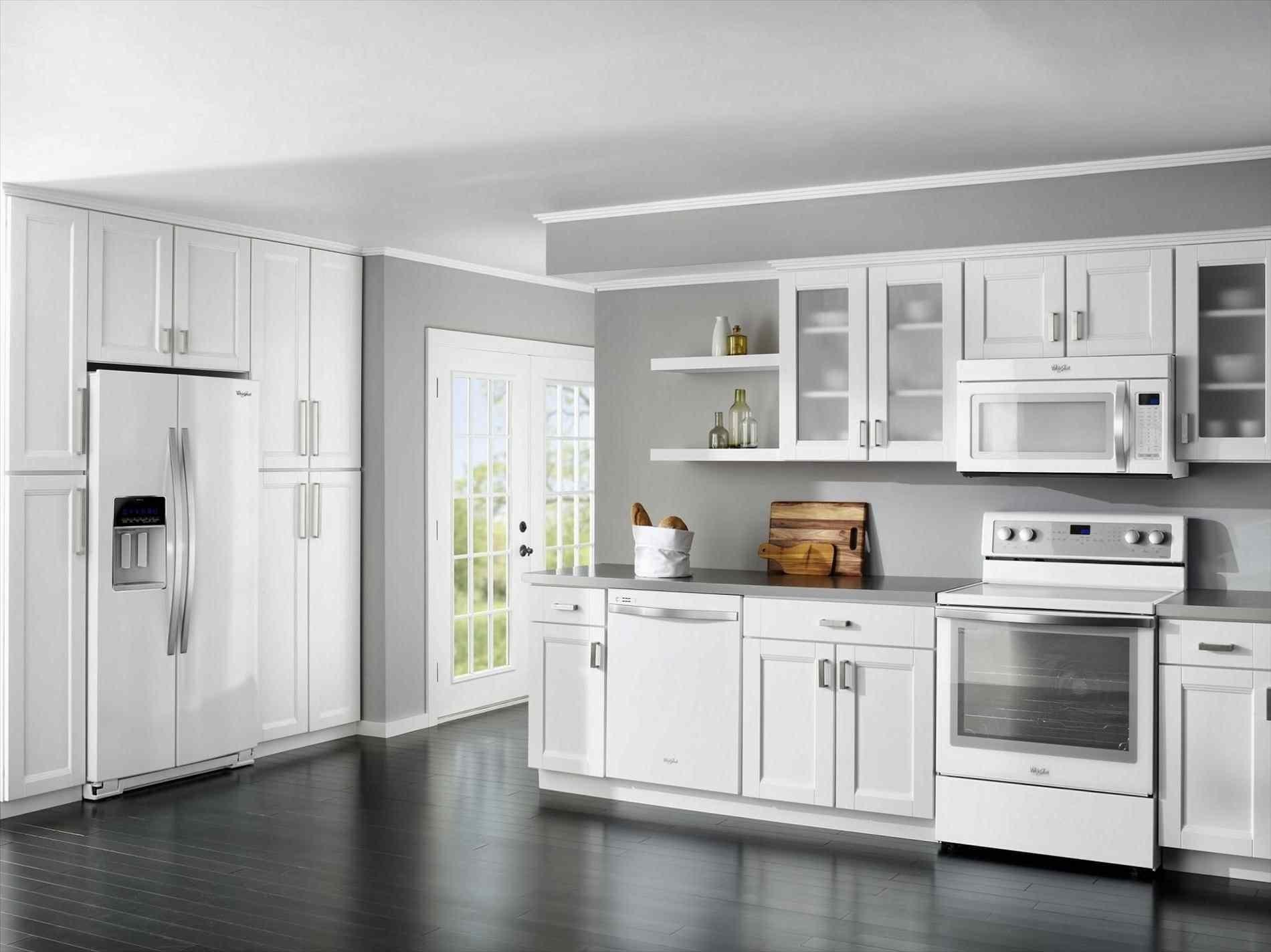 White Shaker Kitchen Cabinets Grey Floor Deductour